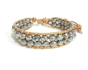 silver crystals bracelet