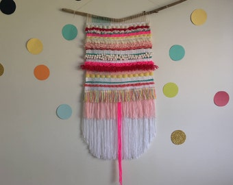 Large Colourful Wall Weaving   Loom   Wall Hanging   Tapestry