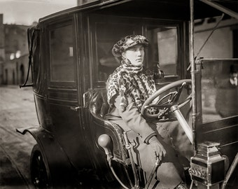 NYC Taxi Driver, First Licensed Woman, Photo, Wilma K. Russey, Sepia Photograph, Girlfriends, Friendship, Wall Art, Gift, For Her