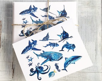 Sea Creature Note Cards