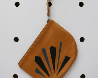 Leather Purse Hand Painted