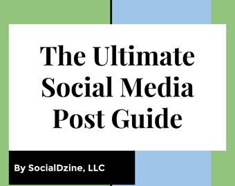 Facebook Post Template - PostTemplate -Twitter Post Guide -  Social Media Guide- Post Planner - Blog generator - Instagram Guide Template