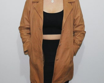 Argentinian Tan Leather Jacket- Vintage