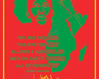 Poster, Thomas Sankara, Fighting This System