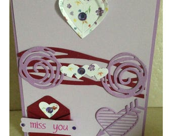 Miss You Handmade Greeting Card | Handmade Card Using Stampin' Up! Love Notes & Swirly Scribbles Dies