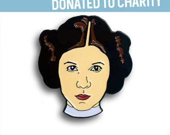 Princess Leia Enamel Pin, Carrie Fisher, Pin Flair, Lapel Pin, Star Wars Pins, Hat Pin, Feminist Pins, Resistance, Rebel, Resist