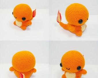Charmender Crochet Plush Hand made