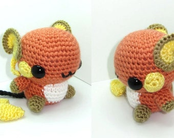 Raichu Amigurumi Crochet Pokemon