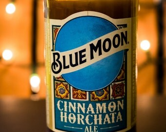 Blue Moon Cinnamon Horchata Beer Bottle Soy Candle