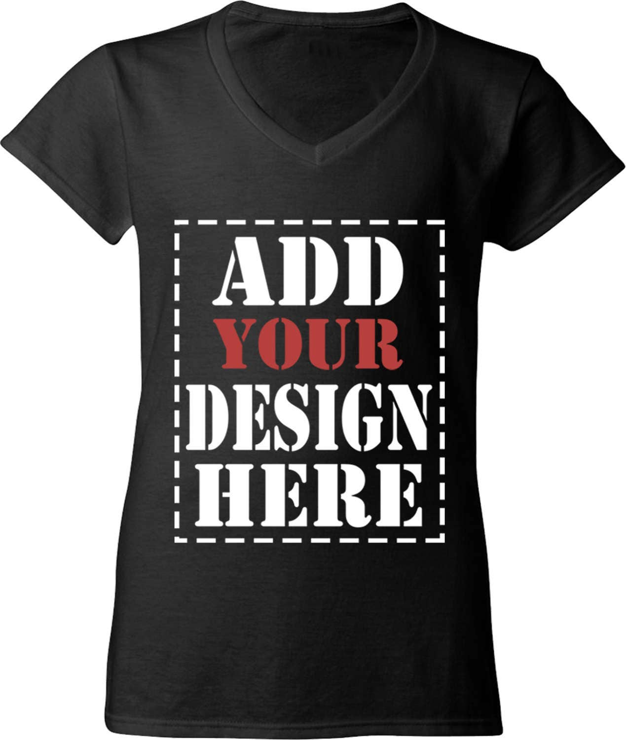 Design your own customized women 39 s v neck t shirt add for T shirt design upload picture