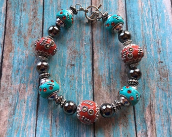 Southwest Jewelry, Beaded Bracelet, Southwestern Bracelet, Southwest Bracelet, Gift For Her