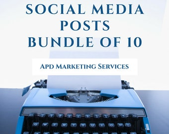 Social Media Bundle Creation of 10 Posts