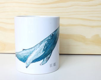 Whale Cup/mug, design unique original, illustrations, illustrated mugs, limited edition