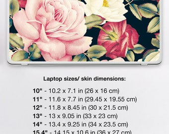 Universal Laptop Sleeve Floral PC Universal Asus Cover Skin Toshiba Decal HP Lenovo Dell Notebook Sticker Decal In Universal Size DRU020