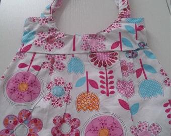 Vintage Print Hobo Design Handbag
