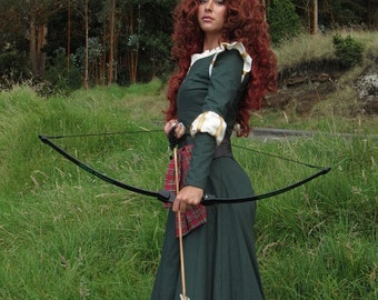 Merida Inspired Brave Cosplay Costume Dress Belt Sash for Teens Adults