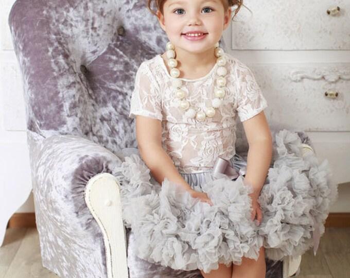 PICK COLOR Baby Girls Pettiskirt Tutu: ivory, dusty pink,red, yellow, lavender, purple, aqua, photo prop, birthday tutu, baby girls tutu