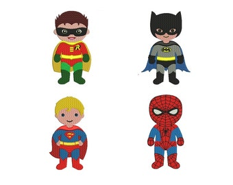 Spiderman Embroidery Design - set of 4 designs instant download