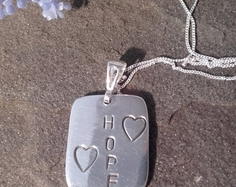 """Unique """"Hope"""" pendant in hand made silver"""