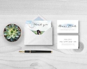The Essentials Package Add On Business Card and Thank You Card Marketing Branding Logo Photographer Photography Small Business