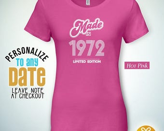 Made in Limited Edition 1972, 46th birthday gifts for women, 46th birthday gift, 46th birthday tshirt, gift for 46th Birthday for Men,