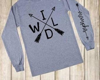 WILD or LITTLE WARRIOR Arrow Shirt