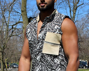 Commuter Zebra Sleeveless Shirt