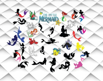 Ariel SVG | Little mermaid clipart | Little mermaid|Mermaid svg,jpg,eps,png format for Design/Print/Silhouette Cameo/Cricut and Many More