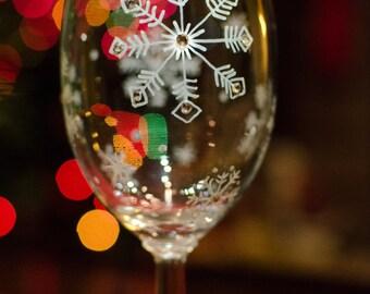 Snowflake Wine Glasses