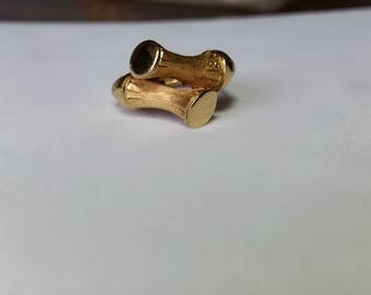 size 7 vintage gold Avon bamboo ring