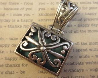 Turquoise Necklace Pendant Reversible 925 Sterling Silver 9.5 Grams