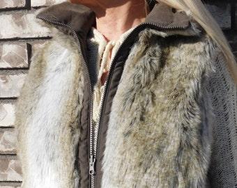 Faux Fur Vest Women's Size Large