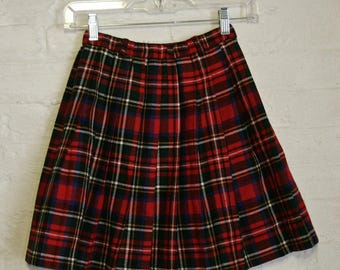 XXS Plaid Tartan Mini Skirt
