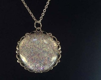 Opal inspired pendant necklace
