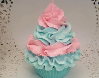 Pastel Pink and Mint Fake Cupcake Photo Props, Home Decor, Party Decorations, Kitchen Home Accents