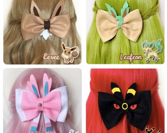Pack of 4 Eevee + Eeveelutions Bows