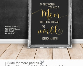 To the World You Are a Mom wall art, Gifts for Mom PRINT/CANVAS/DIGITAL, Mom birthday gift, Mothers Day Gift from Kids, Mom from daughter