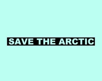 Save the arctic vinyl sticker