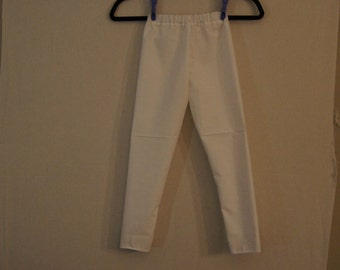Cotton trousers,Trousers,white trousers,pants, child pants,plain trousers,girls trousers ,size 7-8,