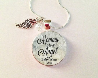 MEMORIAL CHARM, MOMMY to an Angel, in memory, loss of baby, Stillborn, Memorial Jewelry