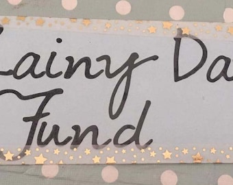 Rainy Day Fund Vinyl Sticker. DIY. Create Your Own Box Frame.