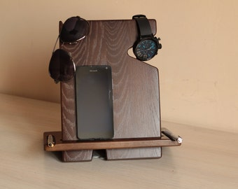 iphone stand, Charging station, Gift for him, iphone docking, Phone stand, iphone holder, iphone dock station, wood iphone dock,