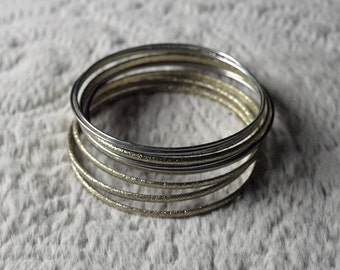 Costume Jewelry Bangles! Gold & Silver!