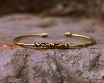Brass Golden Bracelet with Detail