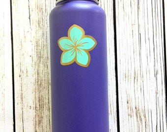 Layered Plumeria flower vinyl decal for hydroflask,yeti,waterbottle
