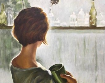 "Original Oil Painting ""View of the window"""