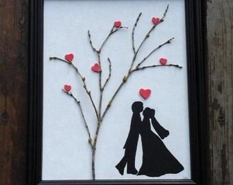 Love,  wedding, newlyweds,  love under a tree