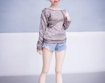 sweatshirt tunic for BJD MSD dolls format minifee fairyland moe line moeline activeline ective line