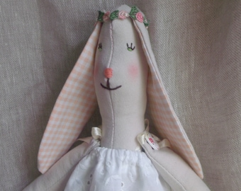 Easter Bunny with cotton, cute Bunny cloth doll in cloth