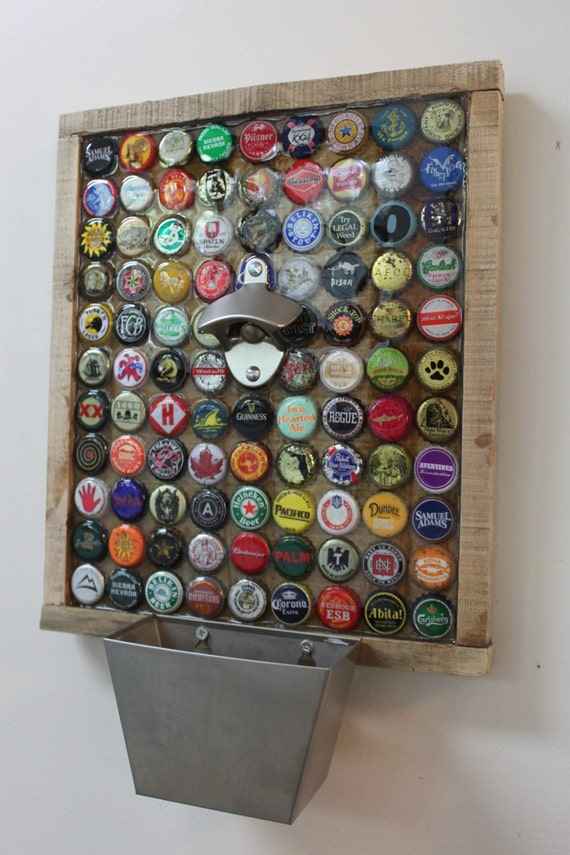 99 beer bottle caps on the wall custom bottle cap beer for Bottle top art projects